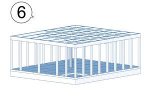 2階の床を支える梁