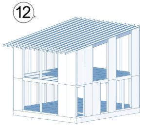 外壁に構造用面材を張る