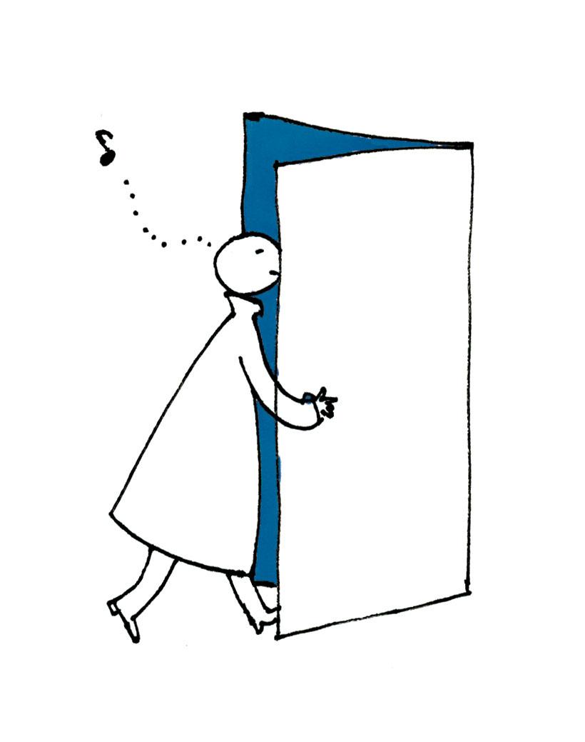 ドアを開ける